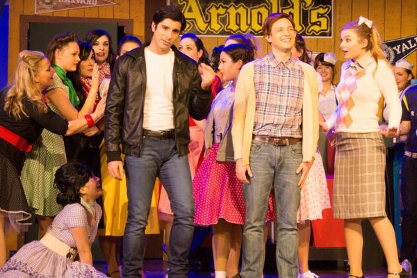Boshko Maksimovic (Fonzie) and Ryan Connell (Richie) in HAPPY DAYS- A NEW MUSICAL