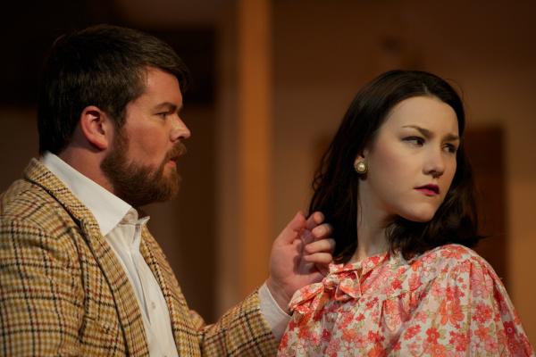 Martin Estridge (William) and Courtney Bain (Christina) in MURDER ON THE NILE. Pic Mark Banks