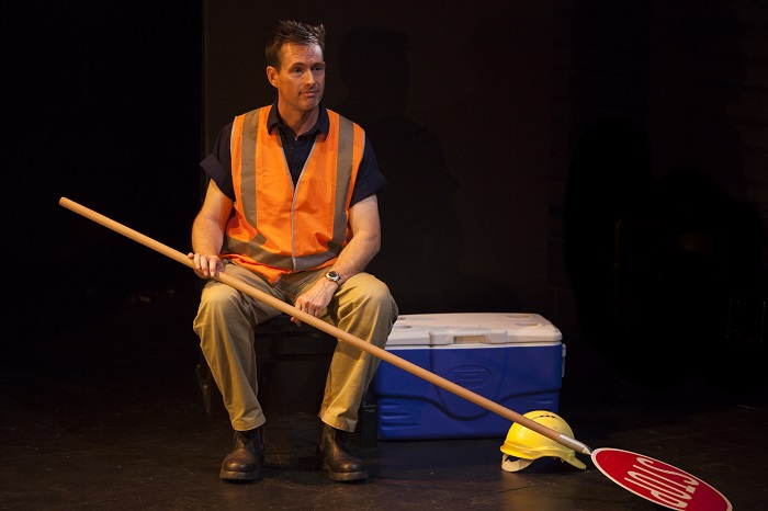 Scott Irwin gives a strong solo performance in Stephen Helper's SIGN OF THE TIMES. Pic Wendy McDougall