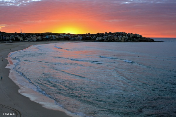 Another beautiful  sunrise over Bondi Beach
