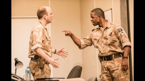 Rory Kinnear as Iago and Adrian Lester as Othello in Nicholas Hytner's bold take on OTHELLO