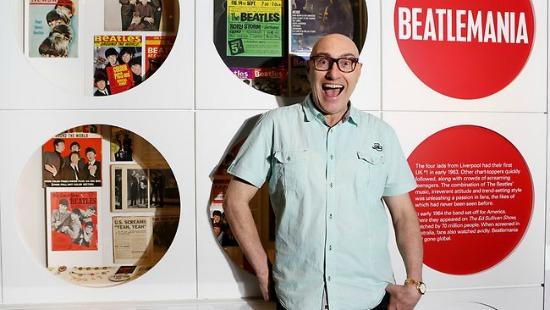 Curator of the BEATLES IN AUSTRALIA exhibition Peter Cox. Pic Nikki Short. Source The Australian