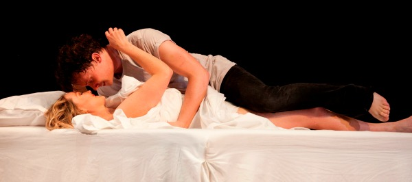 Dylan Young and Eryn Jean Norvill plays the star crossed lovers. Pic Lisa Tomasetti