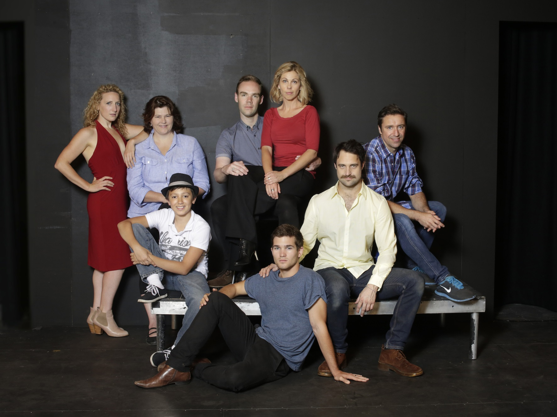 Director Stephen Colyer with the full cast of the upcoming FALSETTOS
