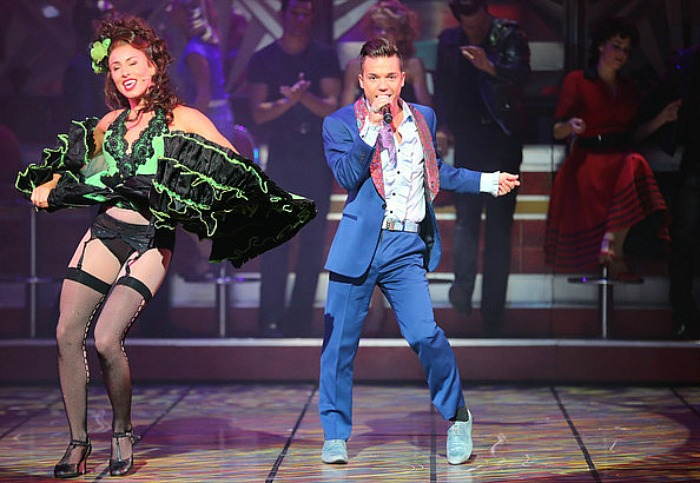 Antony Callea as Johnny Casino shows off his moves