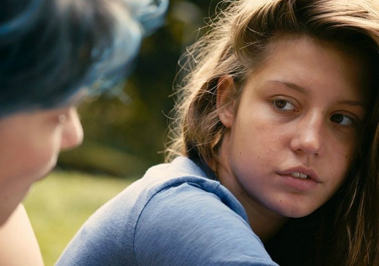 Lea Seydoux and Adele Exarchopoulos in the Palm d'Or award winning, BLUE IS THE WARMEST COLOUR