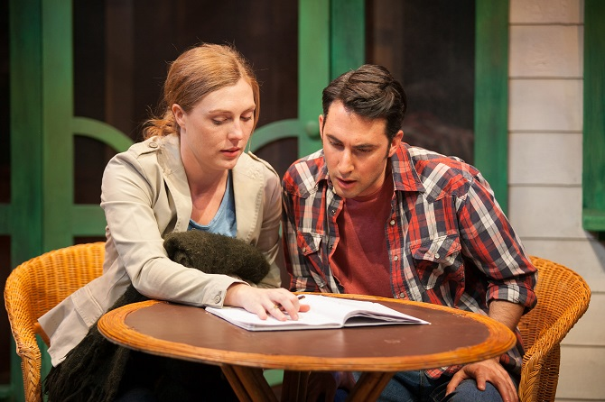 Matilda Ridgway (Catherine) and Adriano Cappelletta (Hal) in David Auburn's  Pulitzer Prize winning PROOF at the Ensemble Theatre