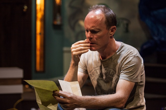 Richard Sydenham plays a devastated father in Bruce Norris's Pulitzer Prize winning drama. Pic Clare Hawley