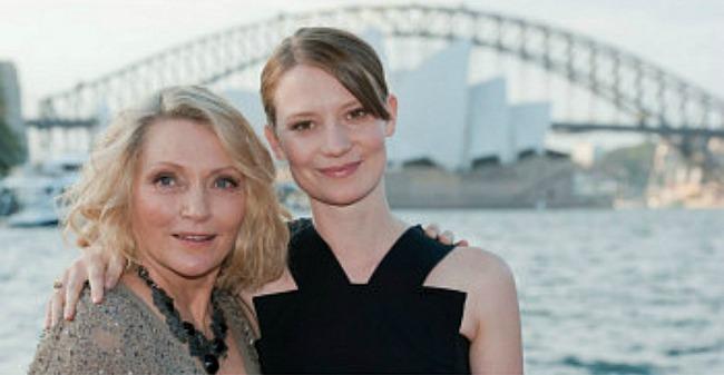 Robyn Davidson and Mia Wasikowska at the Australian premiere of TRACKS