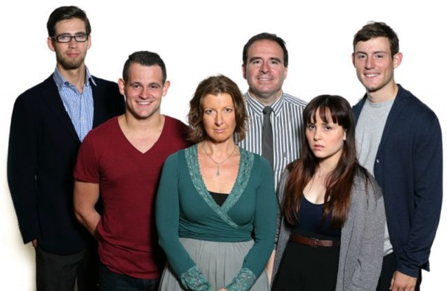 The cast of NEXT TO NORMAL. Pic francisfotography