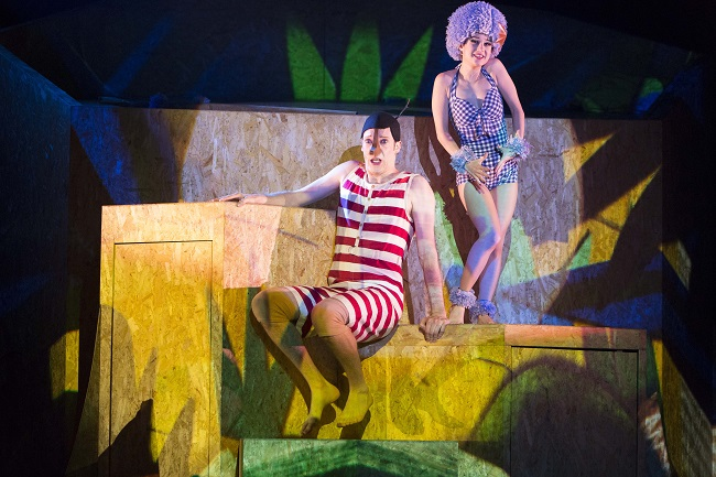 Nathan O'Keefe and Danielle Catanzaritti in Windmill Theatre Company's PINOCCHIO