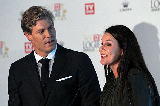 Dr Chris Brown and Julia Morris hosted the 56th Logies Awards nomination event at Club 23, Crown Towers