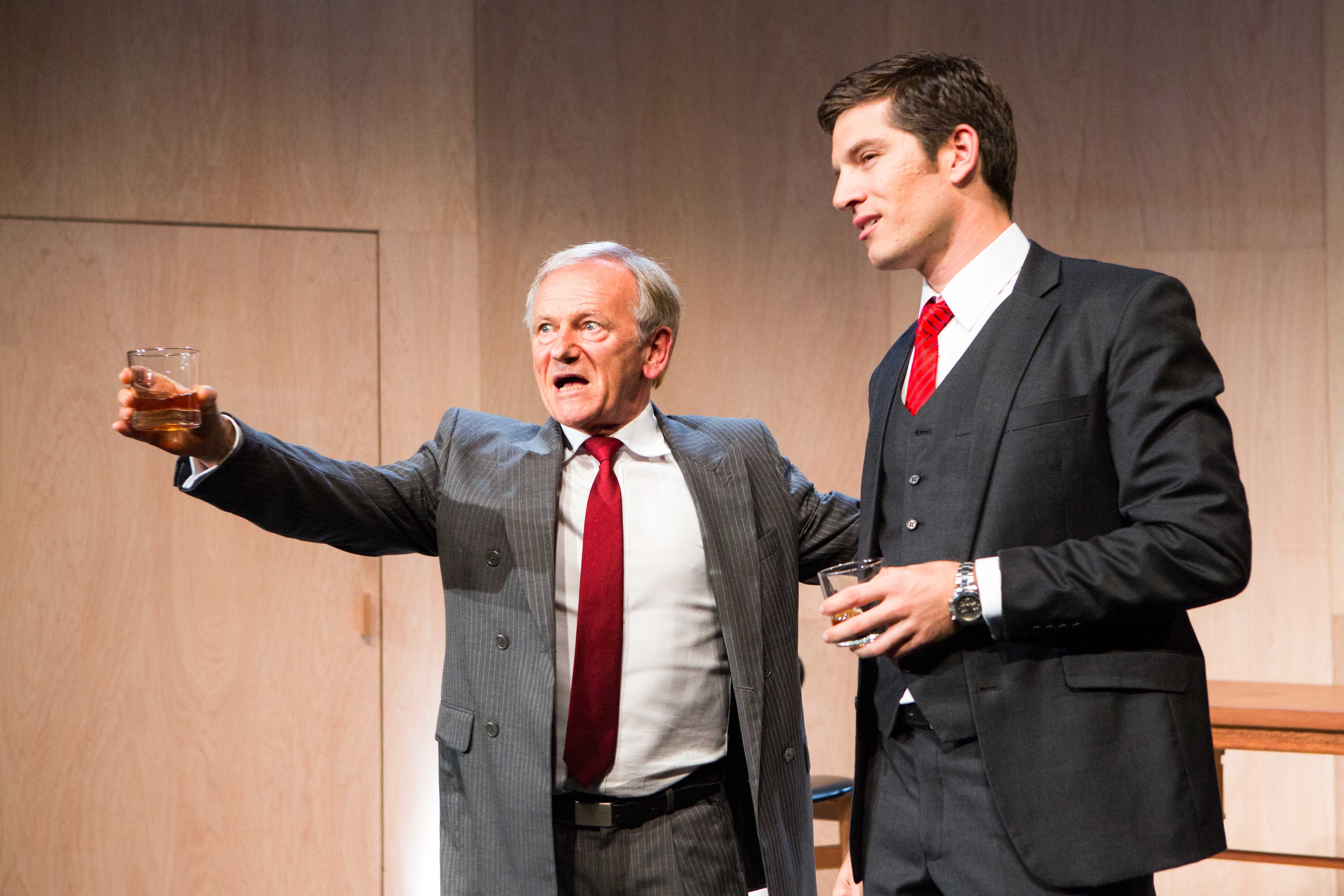 John Turnbull and Andrew  Cutcliffe in THE YOUNG TYCOONS. Pic Noni Carroll