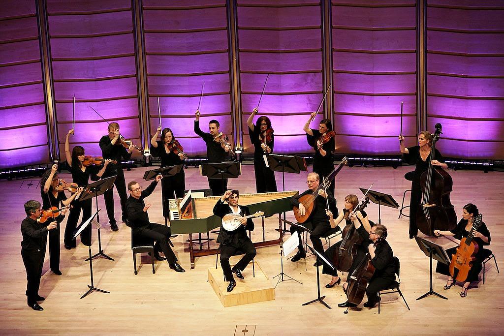 Avi Avital with the Australian Brandenburg Orchestra. Pic Steven Godbee