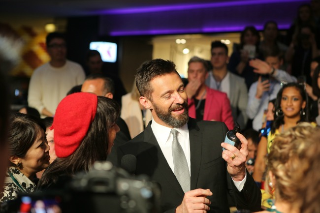 Hugh Jackman, as always, charming the crowd, especially the young ladies