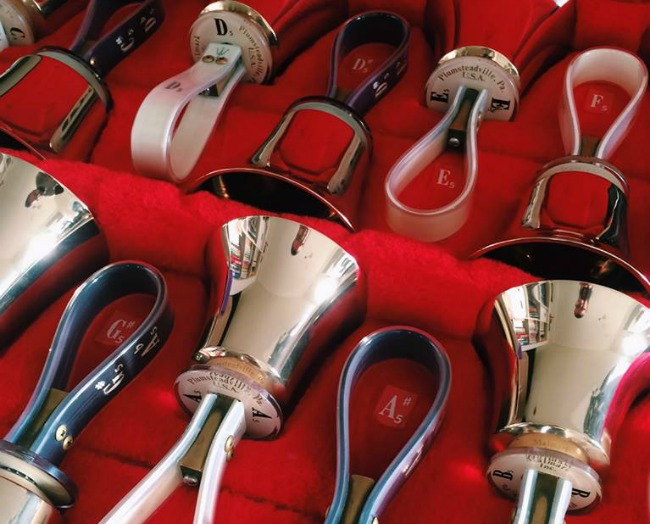 "Handbells were played by the choir in Eric Whitacre's ""Cloudburst"". Pics courtesy of Cameron Woods"
