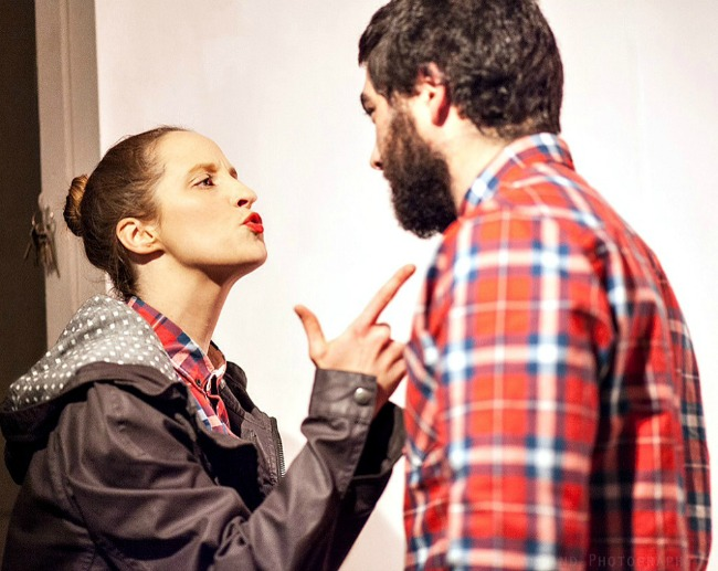 Romney Stanton (Molly) and Ford Sarhan (Beane)  in LOVE SONG at the Tap Gallery