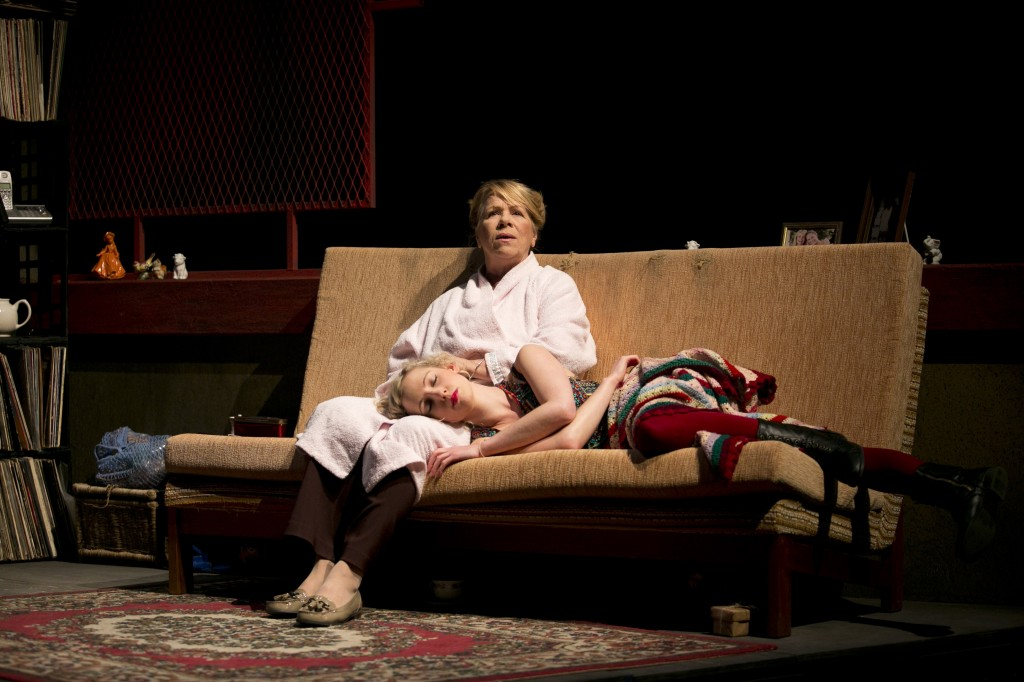 Valerie Bader as Mabel and Clementine Mills as Tracey in M. ROCK. Pic LIsa Tomasetti