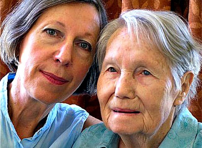 Filmmaker Sophie Turkiewicz and her subject Helen Turkiewicz. Pic Rod Freedman