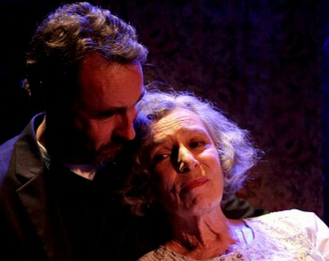Mother (Anna Volska) and Son (James Lugton) in UNHOLY GHOSTs. Pics Danielle Lyonne