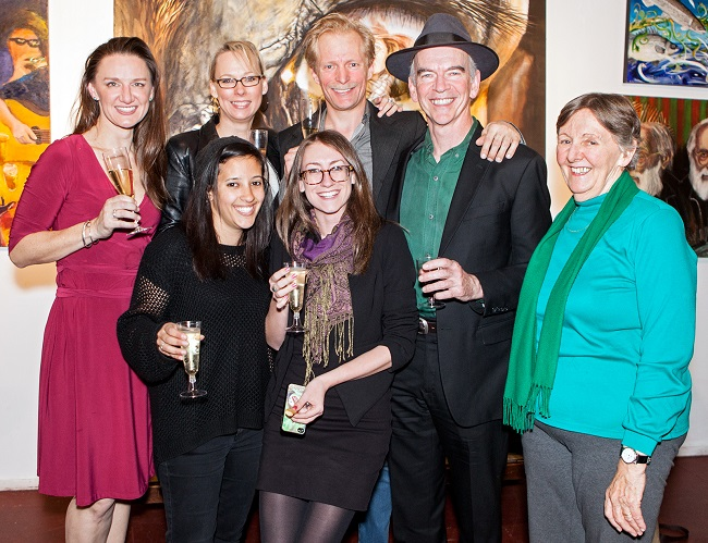 The team behind FOUR PLACES celebrate on opening night