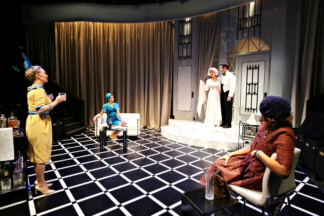 Anna Gardiner's set stars with the cast. Pic Natalie Boog