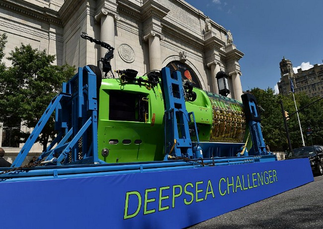 The Deepsea Challenger sub that took James Cameron to the bottom of the ocean