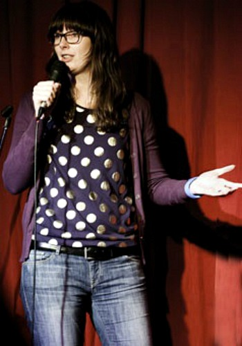 C.J.Delling performing her shtick at the Den in the Chippendale Hotel