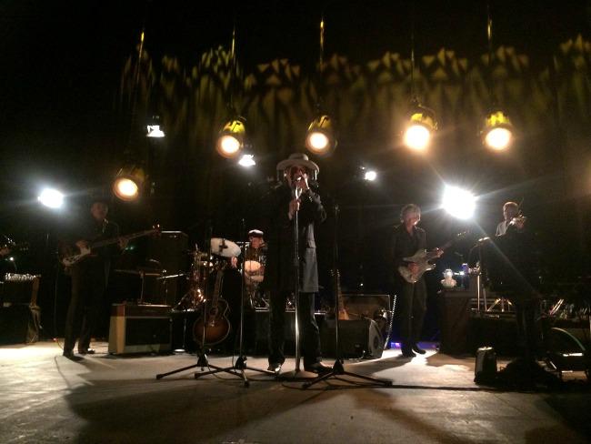 Bob Dylan with his band. Pics Raymond Reade-Majaw