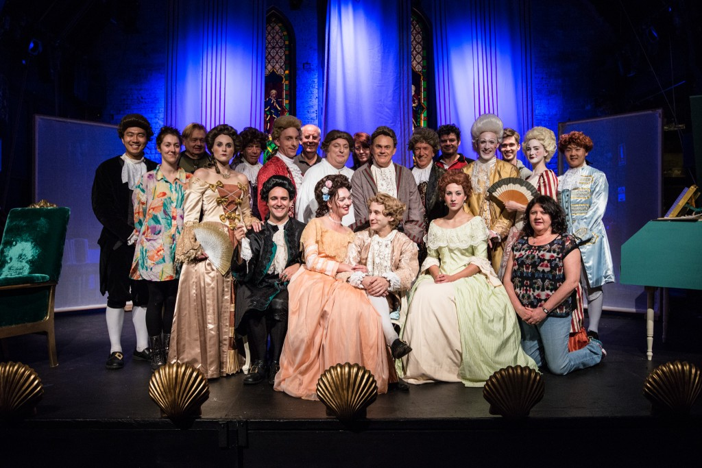 The team, cast and crew, behind AMADEUS. Pics Mark Banks