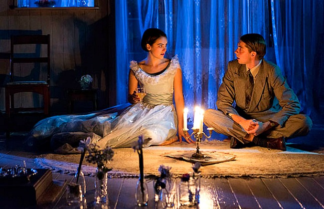 Rose Riley and  Harry Greenwood in THE GLASS MENAGERIE. Pic Brett Boardman