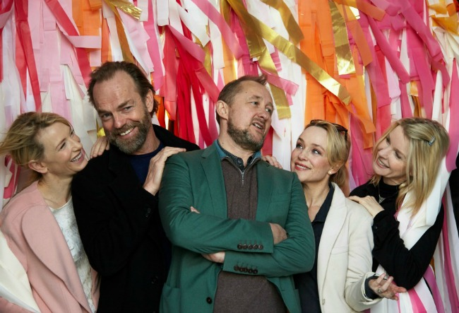Some of the stars of season 2015, Left to right- Cate Blanchett (The Present), Hugo Weaving (Endgame), Susie Porter (Death and the Maiden) and Jacqueline McKenzie (Orlando). Pic by Grant Sparkes-Carroll. Pic above of Hugo Weaving in Endgame. Pic by James Green