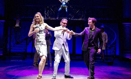 Sarah MacRae, Jonny Glynn and Nicholas Gerard-Martin in The Two Gentlemen of Verona