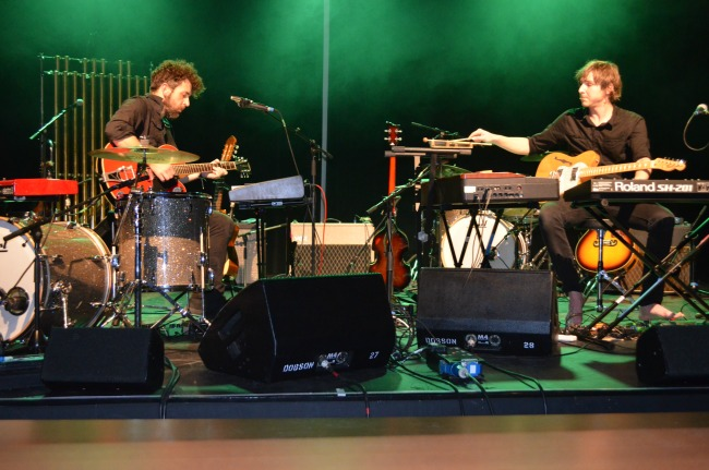 Aiden Roberts and Danny Holdsworth perform Mike Oldfield's classic album. Pic Joanne Kee