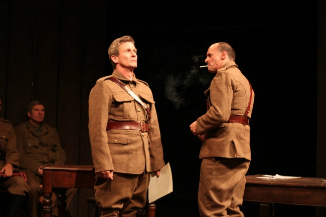 Will Usic and Mark Lee in Breaker Morant, Theatre Troupe's 2013 production