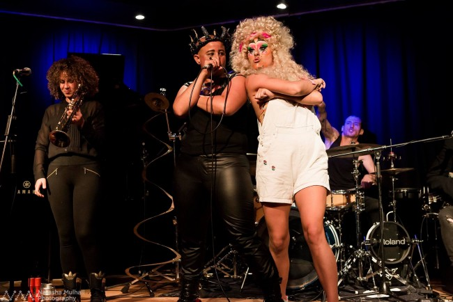 Candy Royalle with her backing band Sloppy Joe performing the songs from new album, Frida People