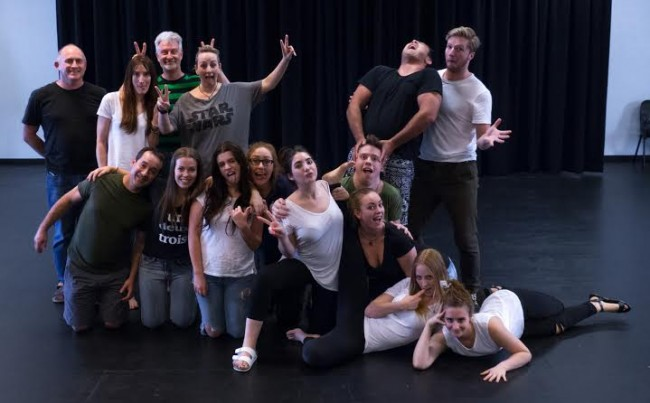 The very enthusiastic cast of Wasn't Tomorrow Wonderful?