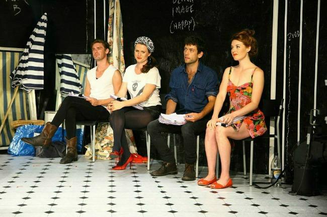 Matt Hickey, Annie Last, Aaron Orzech and Nikki Shiels in THE UNSPOKEN WORD IS JOE. Pics by Eugyene Teh