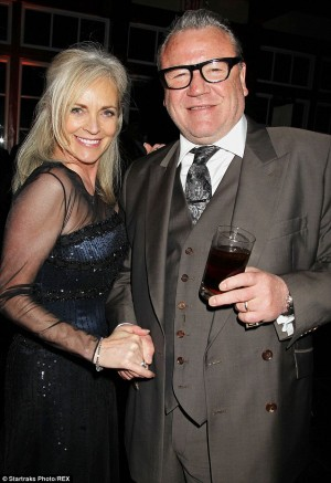 Ray Winstone with his wife Elaine