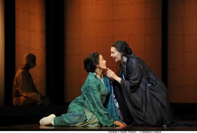 Sian Pendry as Suzuki and Alexia Voulgaridou as Cio-Cio-San