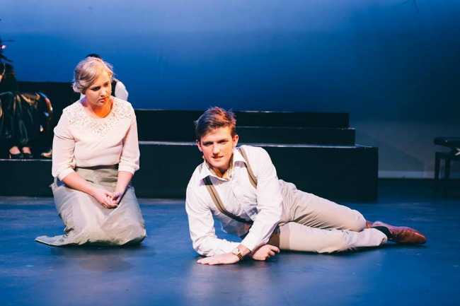 Louise Flynn as Desiree and Stuart Bryan as Fredrik in the Sydney University Music Ensemble's production of Stephen Sondheim's classic, A LITTLE  NIGHT MUSIC