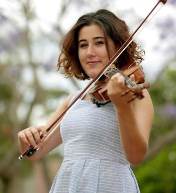 Inset pic- Violinst Doretta Balkizas. Featured pic-Dr Nicholas Milton