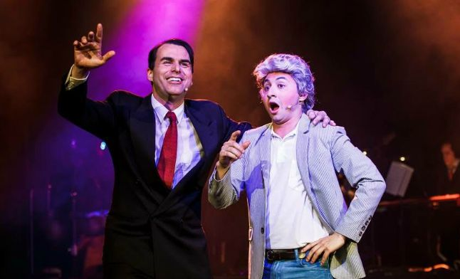 Andy Leonard as Keating, Doron Chester as Bob Hawke. Photos: Grant Leslie Perfect Images