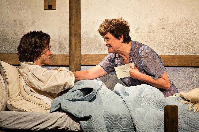 Benjamin Hoetjes as Andrea and Sharon Flanagan as Ursula in Shaun McKenna's LADIES IN LAVENDER.  Production photography by Clare Hawley