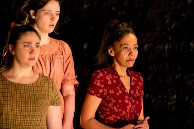 Inset pic- Shari Sebbens, Airlie Dodds and Paula Arundell. Featured pic- Paula Arundell. Production pics by Brett Boardman