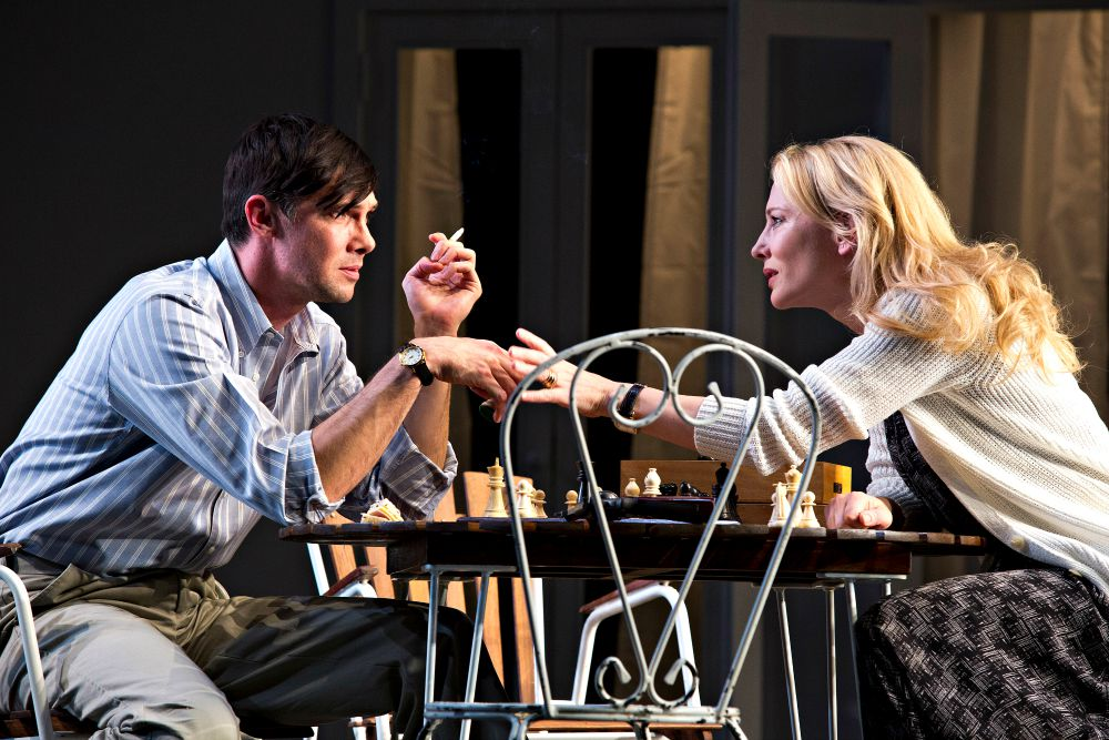 Inset pic- Toby Schmitz and Cate Blanchett. Featured pic- Richard Roxburgh and Cate Blanchett. Production pics by Lisa Tomasetti