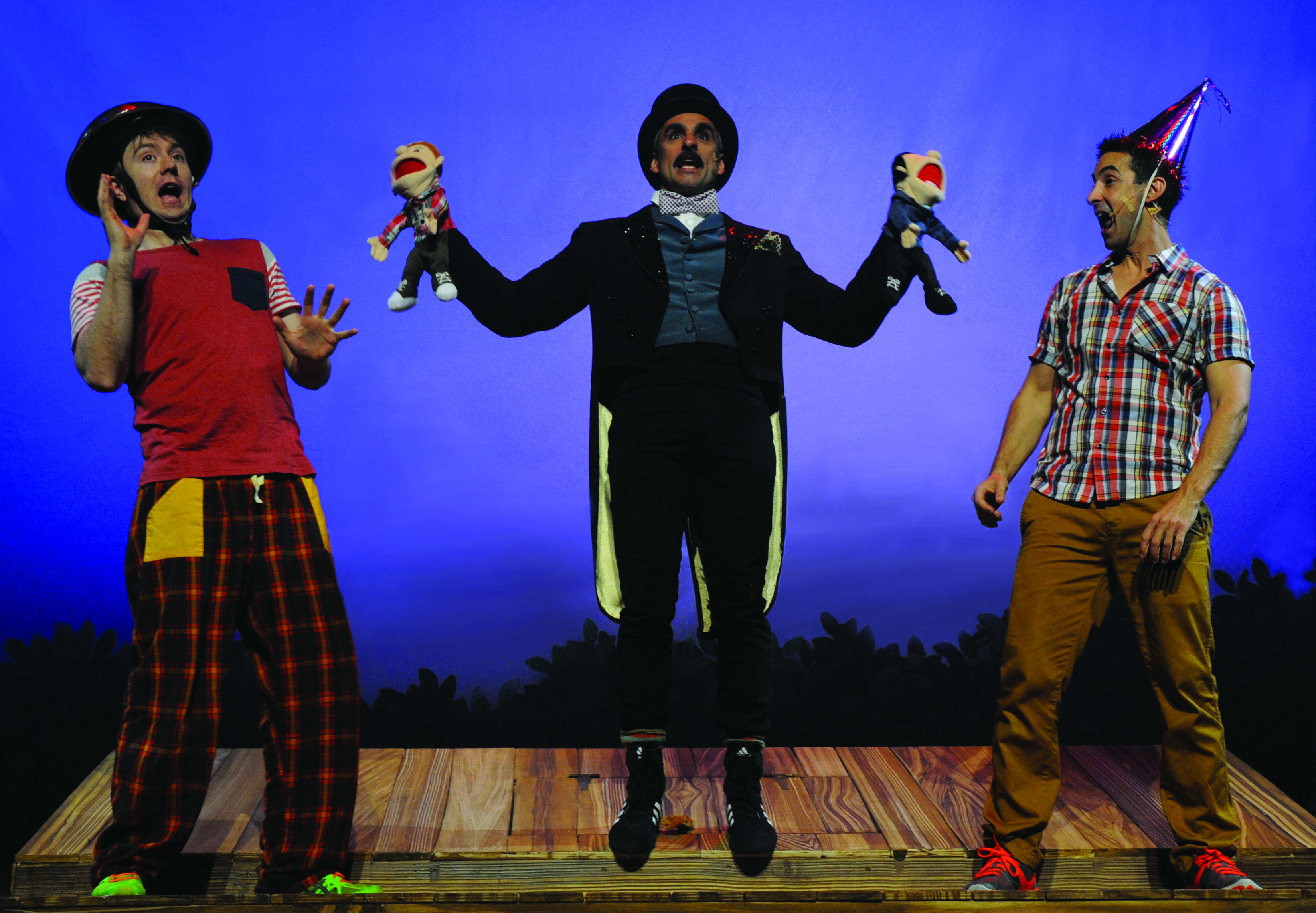 Drew Livingston as terry Johnny Nasser as Edward Puppethands and James Elliot as Andy