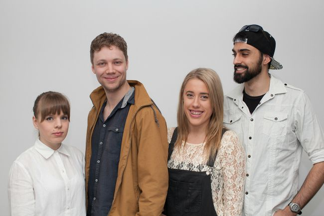 Left to right- Tina Jackson, Luke Holmes, Claudia Coy and James Manera in THE SHAPE OF THINGS