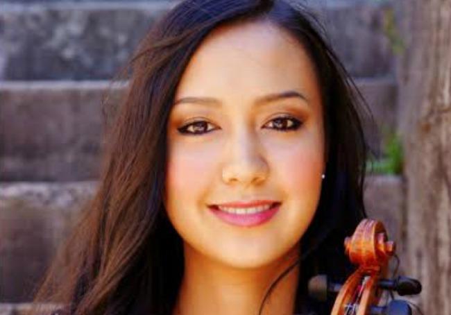 Main image: Sarah-Grace Williams leads The Metropolitan Orchestra. Above: Da Silva Chen was soloist in the Tchaikovsky Violin Concerto