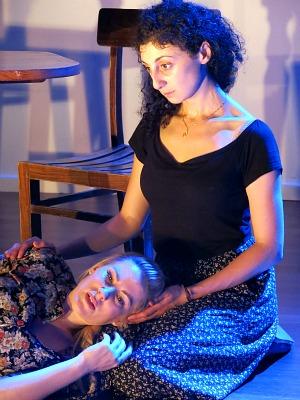 The Poor Kitchen Actors Katrina Rautenberg and Randa Sayed Low Res
